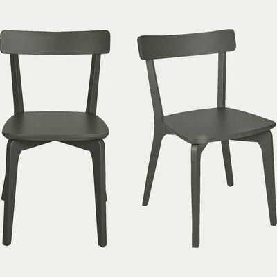 Chaise en bois - vert cèdre-SUZIE
