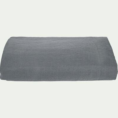 Drap plat en lin - gris restanque 270x300cm-VENCE
