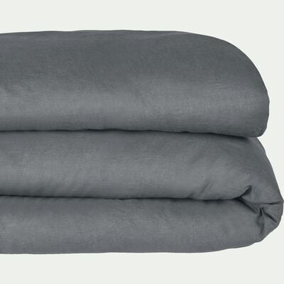 Housse de couette en lin - gris restanque 240x220cm-VENCE