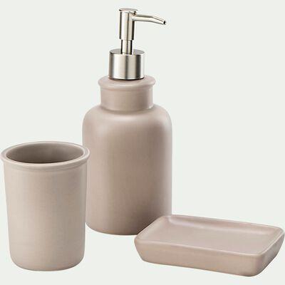 Set de salle de bain en céramique - beige alpilles-DANA