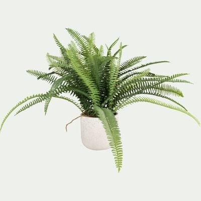 Plante artificielle fougère en pot - vert H42cm-FOUGERE
