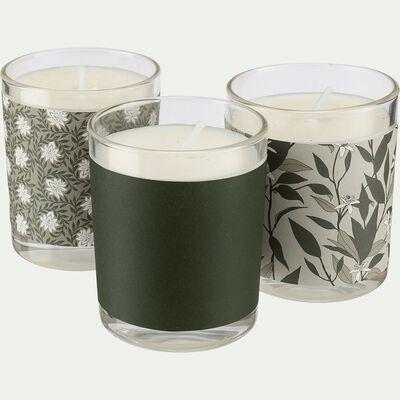 Coffret de trois bougies senteurs Jasmin, Notre Parfum et Fleur d'Oranger-SIGNATURE
