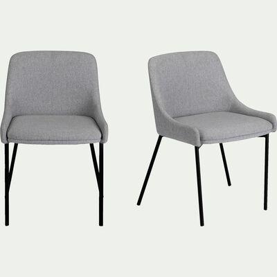 Chaise en tissu - gris borie-TINOU