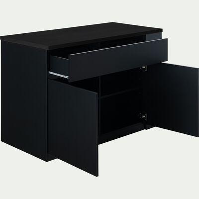 Ilot central de cuisine en bois L137cm - noir-GABIN
