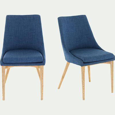 Chaise en tissu - bleu-ABBY