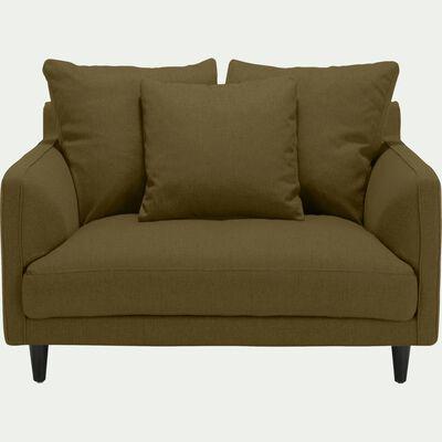 Canapé 1,5 places fixe en tissu - vert cèdre-LENITA