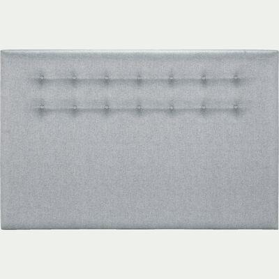 Tête de lit boutonnée en tissu - gris clair L190cm-TIBOULEN