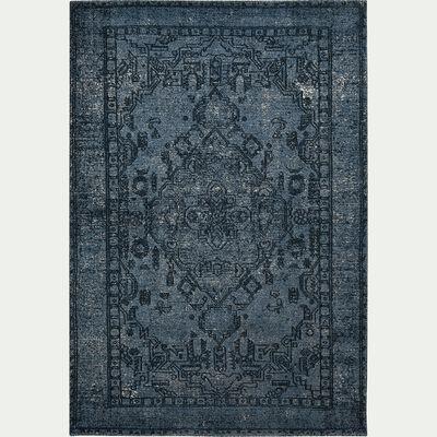 Tapis motif oriental - bleu 120x170cm-OMAN
