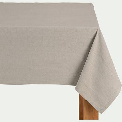 Nappe en lin et en coton - beige 170x170cm-SANTO