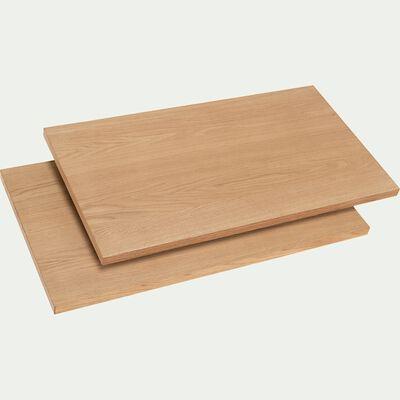 Lot de 2 allonges pour table Lomi plaqué chêne - naturel-LOMI