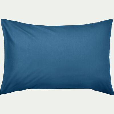 Lot de 2 taies d'oreiller en coton - bleu figuerolles 50x70cm-CALANQUES