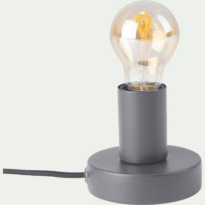 Lampe applique en métal gris restanque D10xH9cm-ODERA