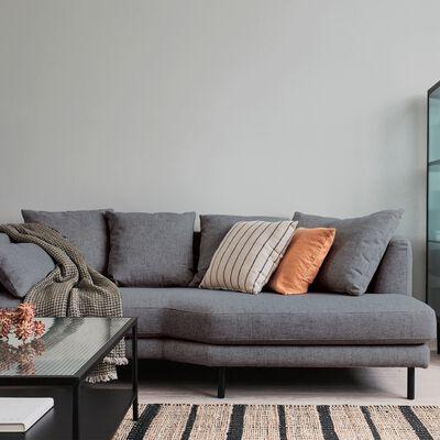 Canapé 5 places fixe droit en tissu - gris restanque-TESSOUN