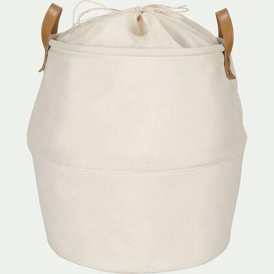 Panier en tissu - blanc ventoux D40cm-CARINO