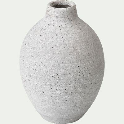 Vase en béton - gris H17cm-CALCIS