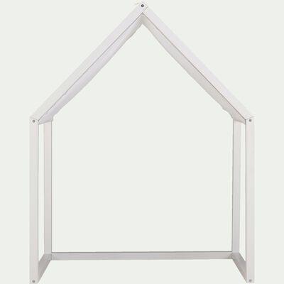 Tête de lit en pin et coton  l60cm - blanc capelan-CELESTINE