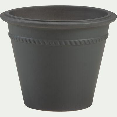 Pot de fleurs en grès - vert cèdre L47xl38cm-LOMA
