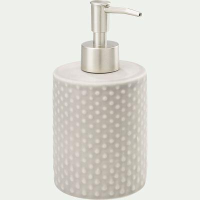 Distributeur de savon liquide en céramique relief - beige alpilles-NARCISSE