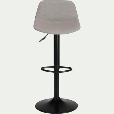 Chaise de bar pivotante en tissu gris borie - H60cm à 81cm-SENANQUE