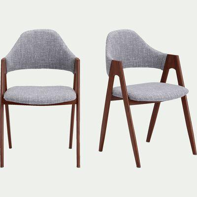 Chaise en tissu - gris clair-GONZAGUE