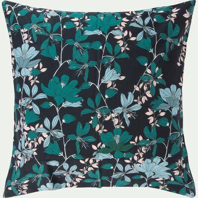 Parure de lit en coton imprimé Fleurs - 240x220 & 63x63 cm-FIORE