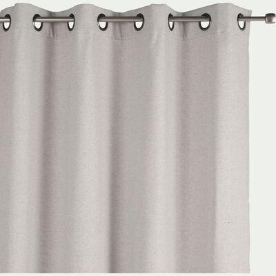 Rideau à œillets en lin et coton - gris borie 140x250cm-CEZE