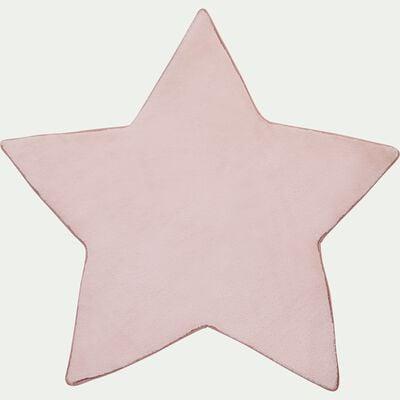 Tapis forme étoile rose-MORGIOU
