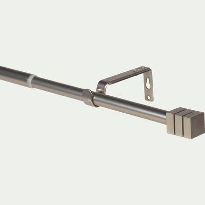 Tringle à rideau extensible en aluminium - argenté 170-300cm-Detroit