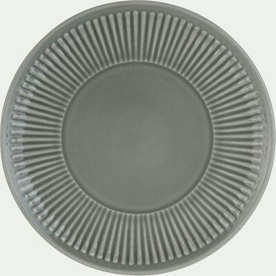 Assiette à dessert en faïence D20,5cm - vert olivier-MORA