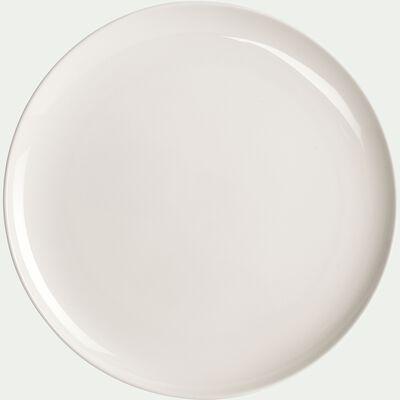 Assiette à dessert en porcelaine blanc légère qualité hôtelière D21cm-SENANQUE