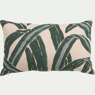 Housse de coussin motif agave en coton - blanc 30x50cm-AGAVA
