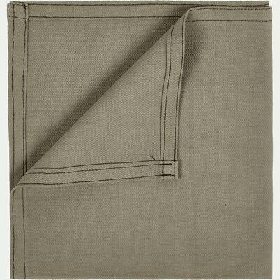 Serviette de table en coton vert olivier 41x41cm-VENASQUE
