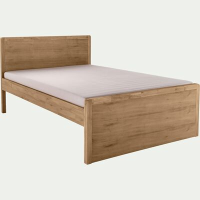 Lit 2 places avec tête de lit  en acacia - bois clair 160x200cm-GAIA