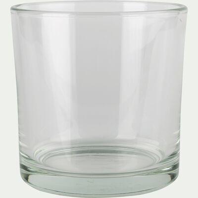 Photophore simple en verre - transparent H14cm-SABBIA