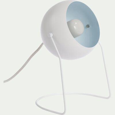 Lampe ronde en métal blanc H26cm-BAOU