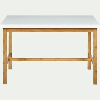 Table haute rectangulaire blanche - L120cm-BULUH