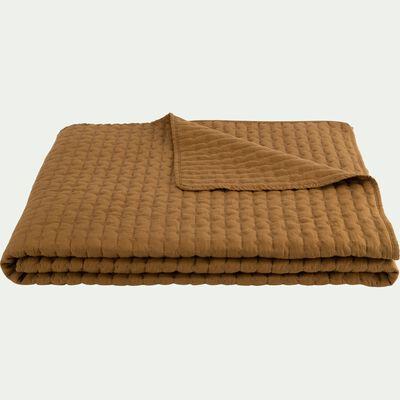 Couvre-lit en tissu surpiqué - jaune alep 180x230cm-BENITO