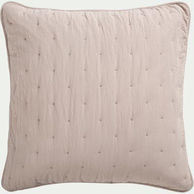 Housse de coussin effet capitonné en polyester - beige alpilles 65x65cm-BADOUR