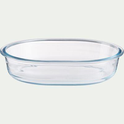 Plat à gratin en verre borosilicate 1,5L-AZET
