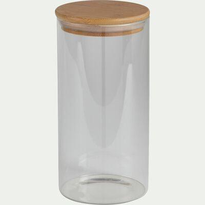 Bocal en verre avec couvercle en bambou 1,45L-BILL