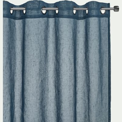 Voilage à œillets en polyester - bleu figuerolles 135x250cm-DUNE