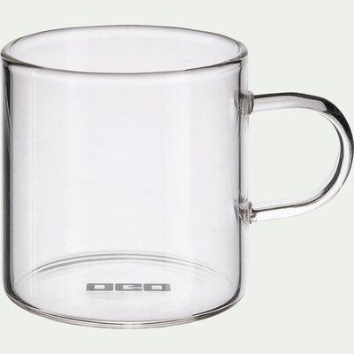 Lot de 4 mugs transparents en verre 15cl-SICHUAN
