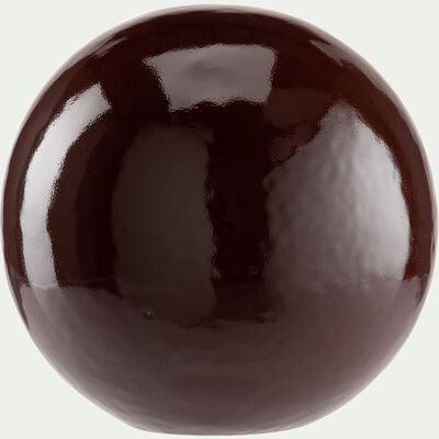 Boule déco en céramique - marron D13cm-AGIDA