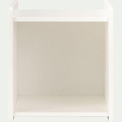 Table de chevet en bois chambre enfant avec niche - blanc-POLLUX