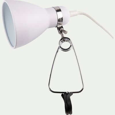 Lampe à pince - blanc h29,5cm-Bonnie