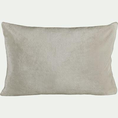 Housse de coussin effet polaire - beige roucas 40x60cm-ROBIN