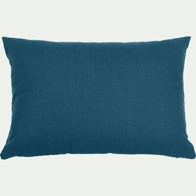 Coussin en coton - bleu figuerolles 40x60cm-CALANQUES