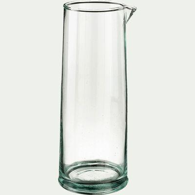 Pichet en verre recyclé transparent 1,5L-BALEM