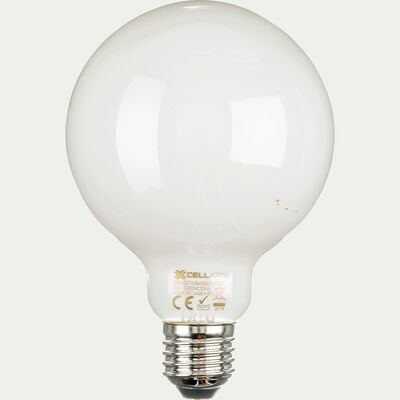 Ampoule LED forme ronde culot E27 - lumière blanche chaude-STANDARD