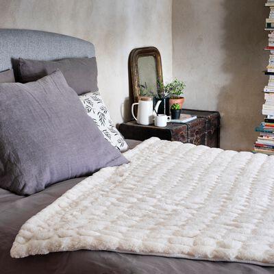 Plaid - 130x170cm blanc-CARINO